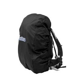 KLOUD City Black nylon backpack rain cover for hiking / camping / traveling (Size: M)