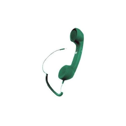 Pyle Home Pitl6Gr Retro Style Handset For Iphone, Ipad, Android Phones, Blackberry, All Other Cell Phones- Easy Use - Retail Packaging - Green