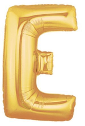 "Single Source Party Suppies - 40"" Megaloon Gold Letter E Mylar Foil Balloon - 1"