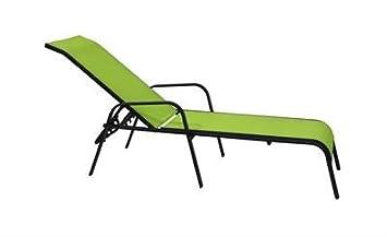 Baño de sol/Transat Ibiza verde 210x 71x 56cm–Hoob
