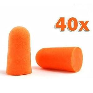 Sodial tm 40 tappi per le orecchie protezioni antirumore for Tappi orecchie silicone per dormire