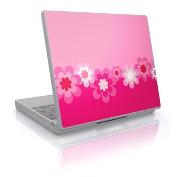Retro Pink Flowers Design Skin Decal Sticker Cover for Laptop Notebook Computer - 15
