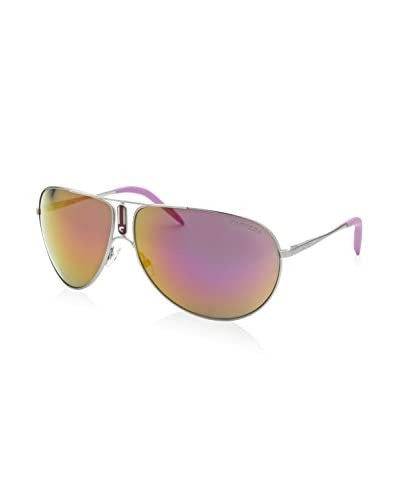 Carrera Men's CAGIPSY-011VQ Sunglasses, Silver-Tone/Purple Reflective