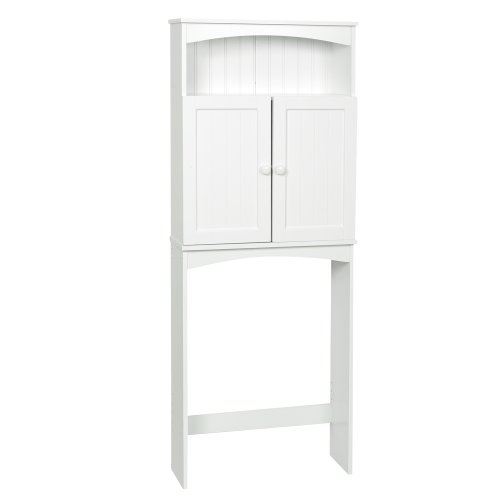 Zenith Products 9107W Country Cottage Etagere Over-The-Toilet Shelving System, White front-384878