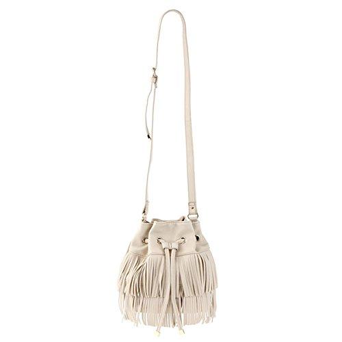 Amazon.co.jp: (マーキュリーデュオ)MERCURYDUO フリンジ巾着BAG バッグ 001531900601 OFFWHITE F: シューズ&バッグ:通販