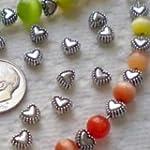 50pcs Tibetan Silver Sweet Heart Spac...