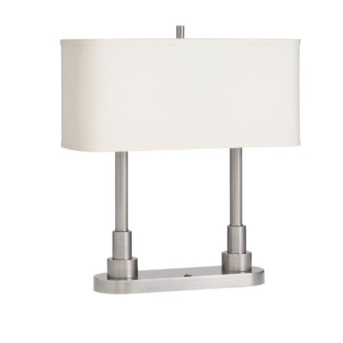 Lampbrushed  White  Kichler Table Lamps Lighting Nickel 70750ni Robson Portable Hard  Shade Desk