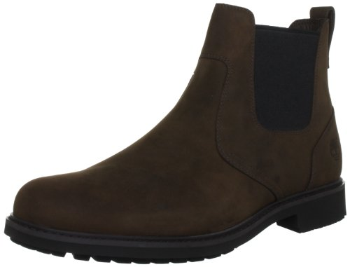 Timberland - EK Stormbucks FTM_EK, Stivali Chelsea da Uomo, Marrone (Burnished Dark Brown Oiled), 41