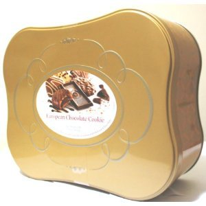 European Chocolate Cookie Tin Assortment of 12