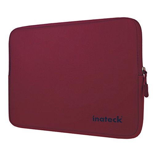 inateck-14-inch-water-repellent-neoprene-laptop-sleeve-protective-case-wine-red