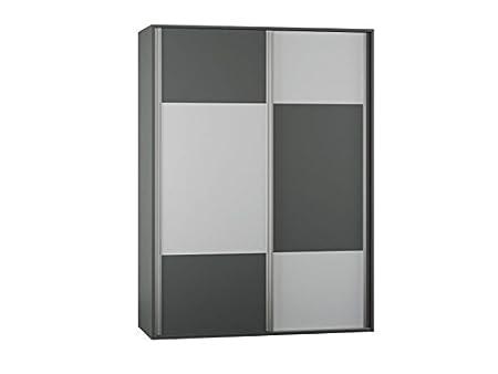Ciudad de colour gris oscuro en el armario de puertas correderas de armario/de colour blanco