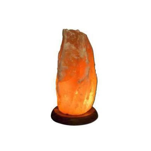 """Himalayan Salt Lamp 12"""" Wood Base"""