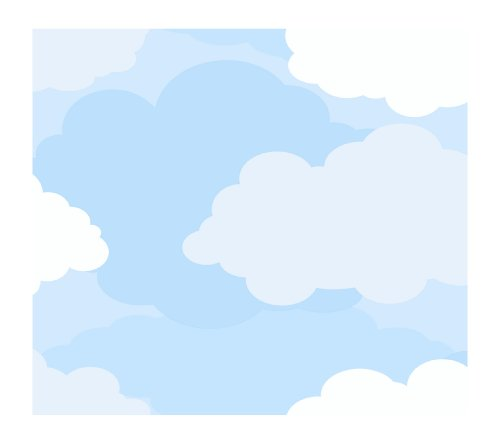 York Wallcoverings Just Kids Kd1783 Cloud Sidewall Wallpaper, Light Blue front-309485