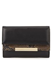 M&S Collection Faux Snakeskin Design Purse