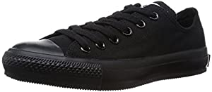 Converse Women's Chuck Taylor Core Ox Fashion Sneaker Black Monochrome 8 M US