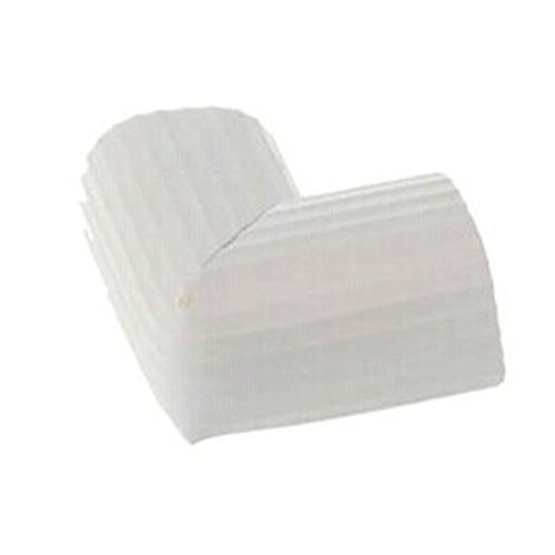 Paico Home Table Corner Cushion Foam Toddler Infant Safty Protector Slim Strip Pattern 12 Pack 6x3.5 CM - White