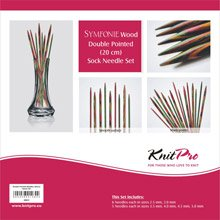 Knit Pro Symfonie Wood Double Pointed Sock Knitting Needle Set 20cm