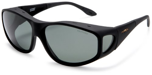 Haven Fits Over Sunwear Everest Fitover Sunglasses,Black Frame/Gray Lens,one size