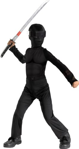 G.i. Joe Snake Eyes Classic Halloween Costume Kids Dress up Small - 1
