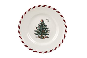 #!Cheap Spode Christmas Tree Peppermint Canape Plate, 6-1/2-Inch, Set of 4