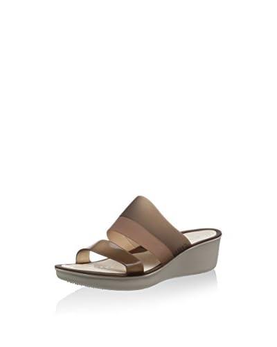 Crocs Sandalo Zeppa Colorblock Transl Mini Wedge W