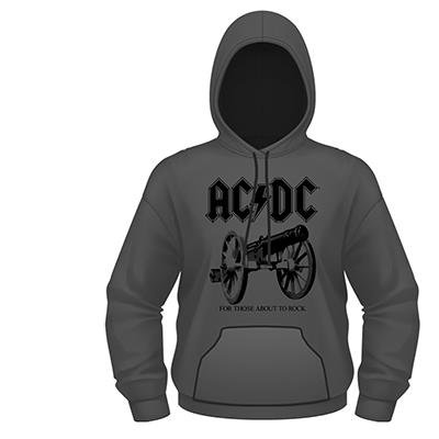 AC/DC For Those About To Rock grigio felpa con cappuccio ufficiale autorizzato