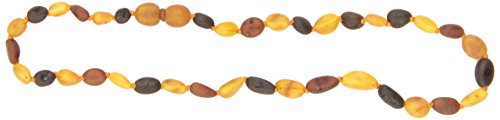 "Momma Goose Olive Teething Necklace, Unpolished Multi, Medium/12-12.5"" - 1"