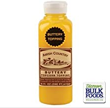 Amish Country Popcorn Buttery Popcorn Topping 16oz - Case of 12 Bottles