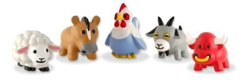 BARNYARD MANIA - Complete Set of 5 RARE Squishies W/ GAME CODES FOR SQWISHLAND WEBSITE