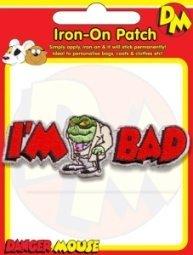 Danger Mouse Badge. Baron Greenback Im Bad Embroidered Badge