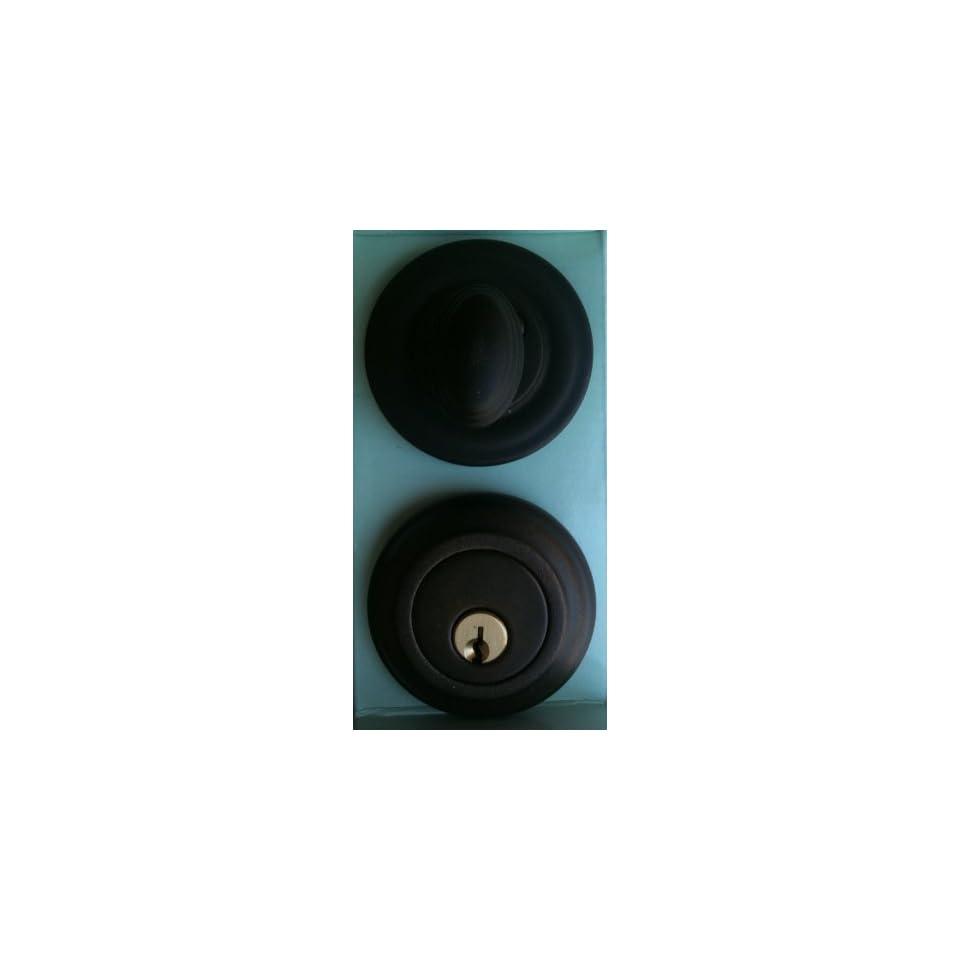 PEGASUS Door Lock Set 502 513 SINGLE CYLINDER DEADBOLT Oil Rubbed Bronze