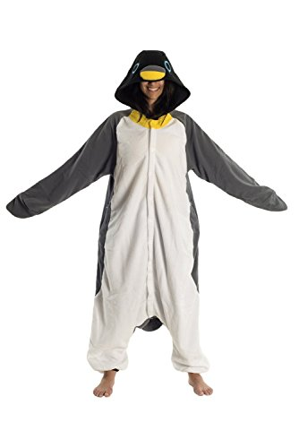 New Penguin Adult Men Women Animal Sleep Suit Cosplay Kigurumi Costume Pajamas Outfit Nightclothes Onesies Costume Clothing Pajamas Tracksuit Grey