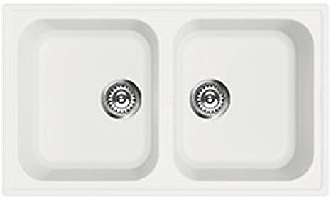 Synthetic Recessed Sink, White, 86 cm. Series Rigae SMEG lz862b