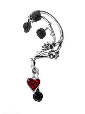 Bed of Blood Roses Left Ear Wrap Earring by Alchemy Gothic