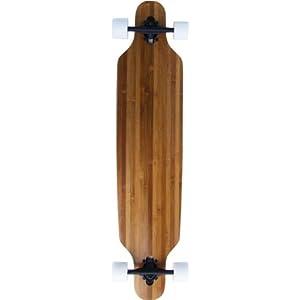 Dark Bamboo Drop Through Thru Complete Longboard Skateboard New On Sale