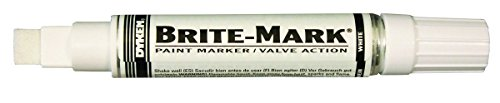BRITE-MARK Jumbo Paint Marker, white (White Aluminum Paint compare prices)