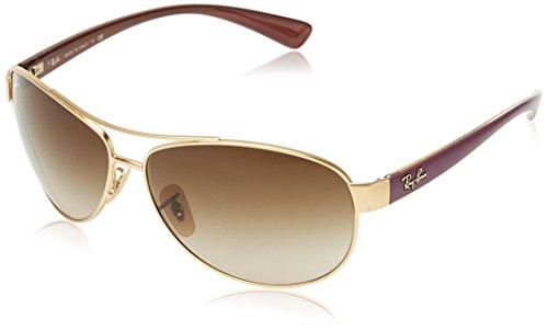 Annayake ZO-PO-02-29 Astuccio per occhiali, Aviatore, 63mm, Matte Gold Frame/Gradient Brown