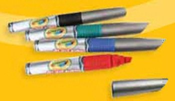 6 Pack CRAYOLA LLC FORMERLY BINNEY & SMITH CRAYOLA DRY ERASE MARKERS BLUE