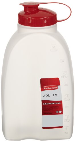 Rubbermaid Servin Saver White Bottle 2 Qt. (Pack of 2) (Rubbermaid Pitcher 2 Quart compare prices)