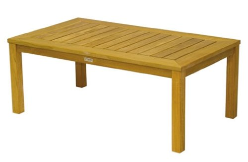 Three Birds Casual Newport 48-Inch Rectangle Coffee Table, Teak