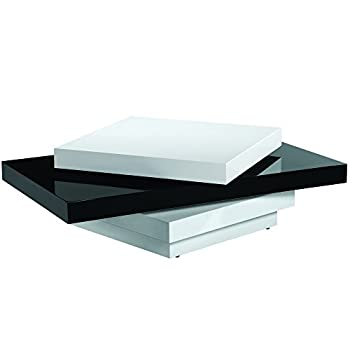 Legacy Commercial Swivel Coffee Table with Black/White High Gloss