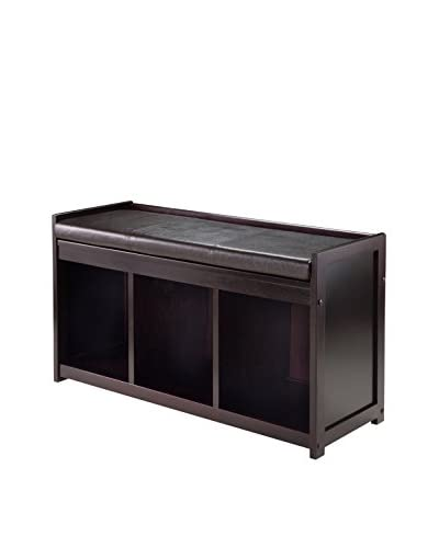 Luxury Home Addison Contemporary Storage Bench, Espresso