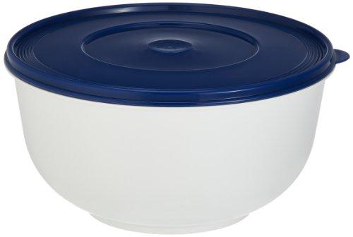 Emsa Superline 2143501200 Ciotola per lievitazione con coperchio, 5 l, colore: Bianco/Blu