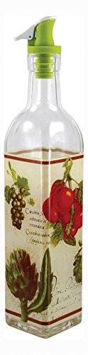 Grant Howard 50902 16 oz French Veggies Oil and Vinegar Cruet, Clear