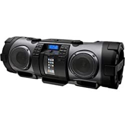 JVC RV-NB70B Radio/CD Player BoomBox - 1 x Disc - 5 W Integrated - Apple Dock Interface - Black - 30 Programable Tracks - CD-DA, MP3, WMA - USB