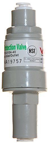 iSpring APR40 Pressure Regulator & Protection Valve for water filters, 1/4-Inch Quick Connect, MAX 40 PSI
