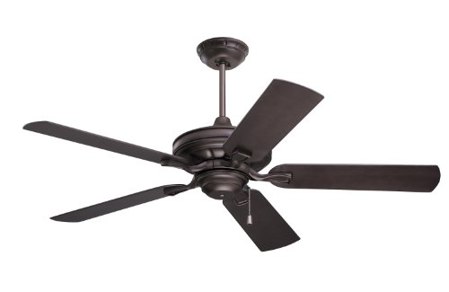 Emerson Ceiling Fans CF552ORB Veranda 52-Inch Indoor Outdoor Ceiling Fan, Wet Rated, Light Kit Adaptable, Oil Rubbed Bronze Finish (Modern Outdoor Fan compare prices)