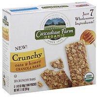 Cascadian Farm Organic Crunchy Oats and Honey Granola Bars, 7.1 Ounce