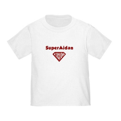 Personalized Superaidan Aidan Superman Super Hero Baby Infant Toddler Kids Shirt - Customize With Any Boy Or Girls Name, Christmas Present Custom Superhero Gift Collection front-1015483