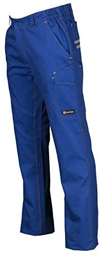 Pantalone da Lavoro 100% Cotone Multistagione Con Tasche Anteriori Payper Worker, Colore: Royal, Taglia: S